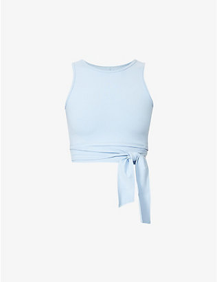 LIVE THE PROCESS: Ballet tie around stretch-woven top