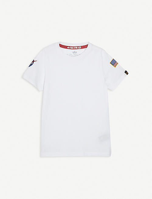 ALPHA INDUSTRIES: Cotton NASA patch t-shirt 7-16 years