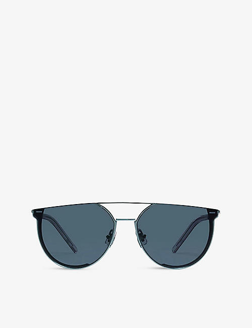 GENTLE MONSTER: K-1 07(N) acetate and stainless-steel D-frame sunglasses