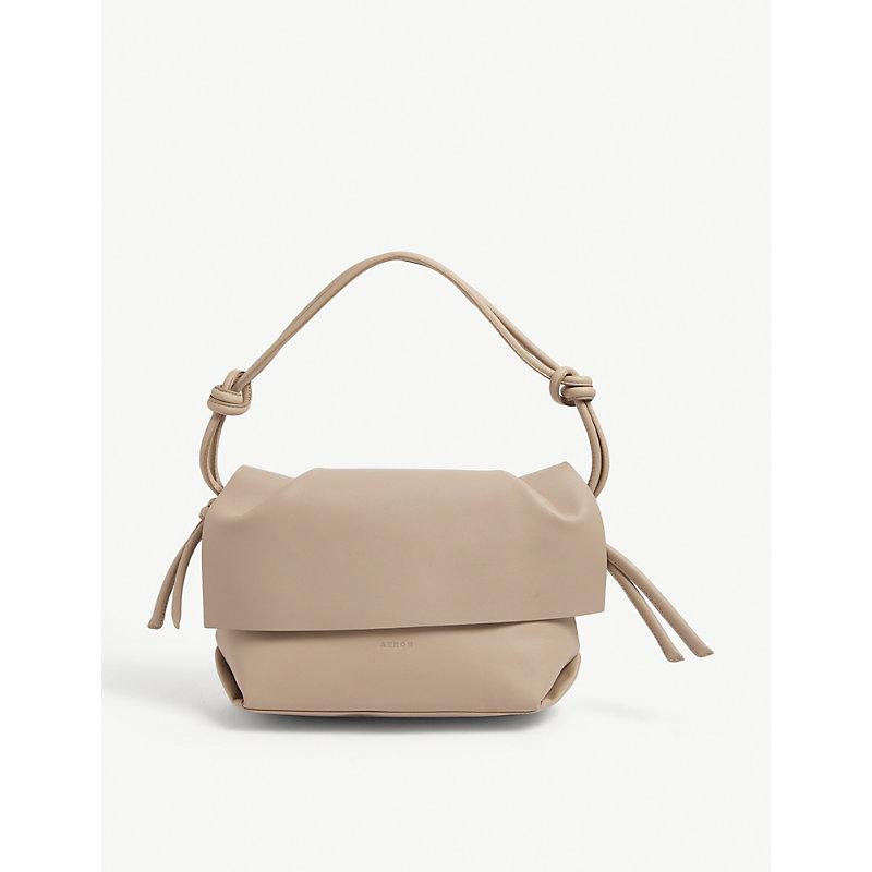 Aeron Harriet Mini Leather Shoulder Bag In Sand 105