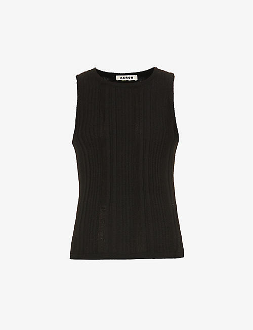 AERON: Grew sleeveless knitted top