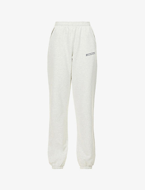 SPORTY & RICH: Good Health brand-print cotton-jersey jogging bottoms