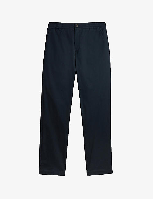 TED BAKER: Kokoro relaxed-fit straight-leg stretch-cotton trousers