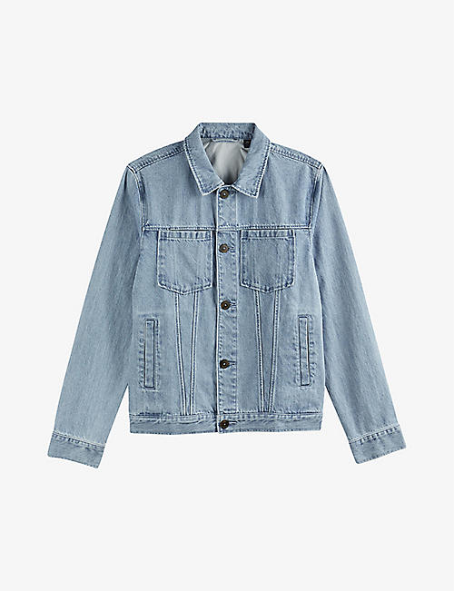 TED BAKER: Helmit light-wash denim jacket