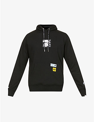 AAPE: Brand-embroidered cotton-blend hoody