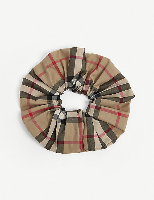 BURBERRY: Vintage check cotton scrunchie