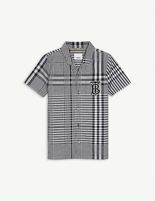 BURBERRY: Reyford checked cotton shirt 8-14 years