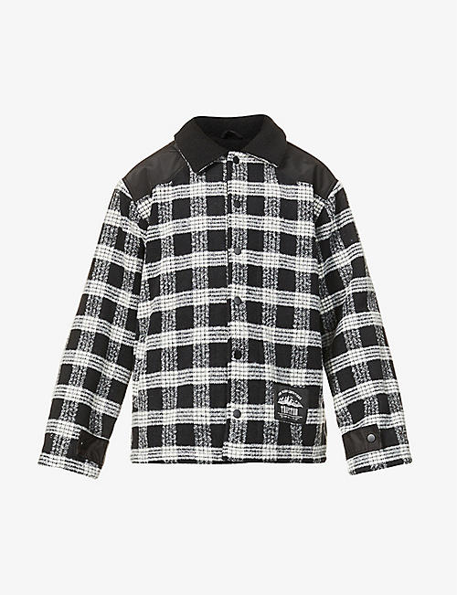 TRAPSTAR: Lumberjack checked contrast-panel woven jacket