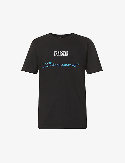 TRAPSTAR: It's A Secret brand-embroidered cotton-jersey T-shirt