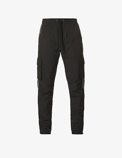 TRAPSTAR: Utility branded relaxed-fit shell jogging bottoms