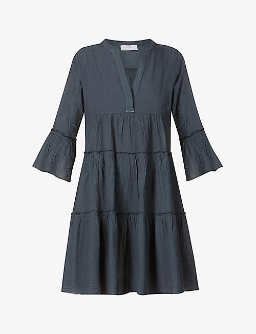 DEVOTION: Ella tiered cotton mini dress