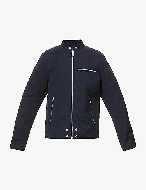 DIESEL: Glory zipped cotton-blend jacket