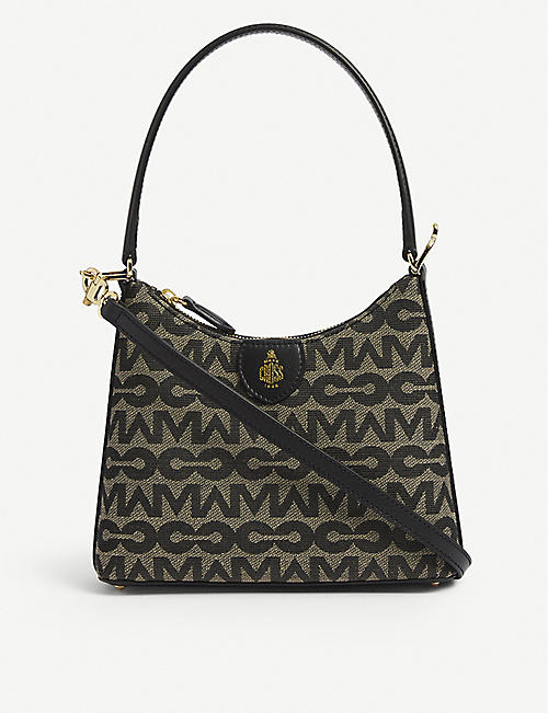 MARK CROSS: Murphy logo-print leather shoulder bag