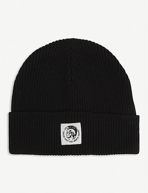 DIESEL: K-CODER-F ribbed wool-cotton blend beanie