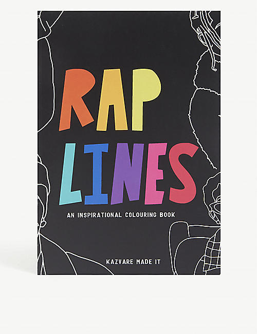 KAZVARE MADE IT: Rap Lines recycled-paper colouring book