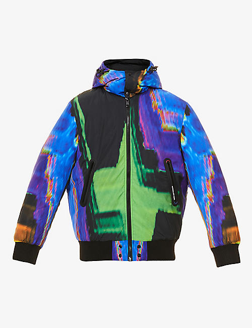 DIESEL: Abstract-print shell jacket