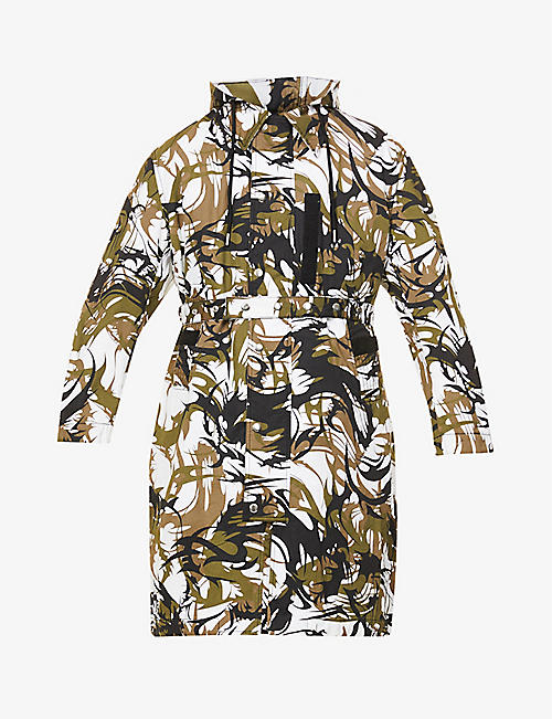 DIESEL: Torrence abstract-print reversible cotton jacket