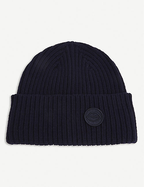 MARKUS LUPFER: Logo-patch ribbed merino wool beanie