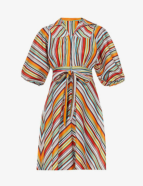 BEYOND RETRO: Pre-loved striped woven mini dress