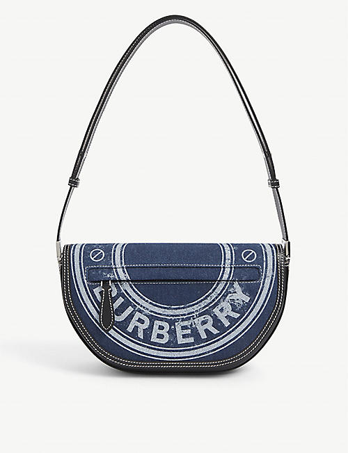BURBERRY: Olympia small denim shoulder bag