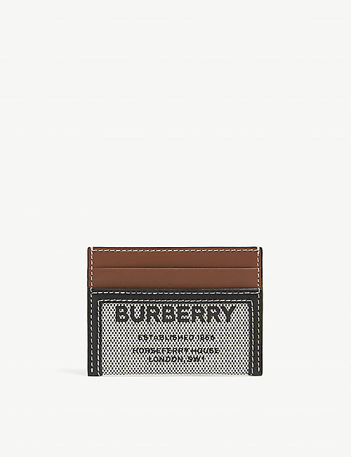 BURBERRY: Horseferry-print canvas cardholder