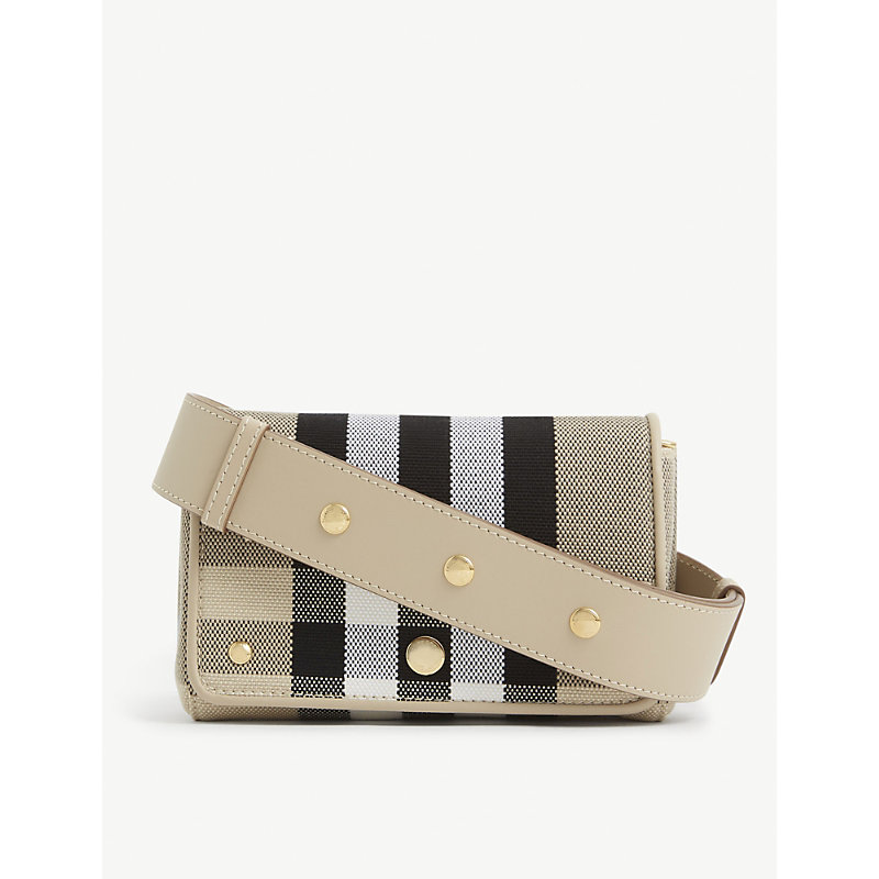 Burberry HACKBERRY CHECKED CANVAS CROSS-BODY BAG