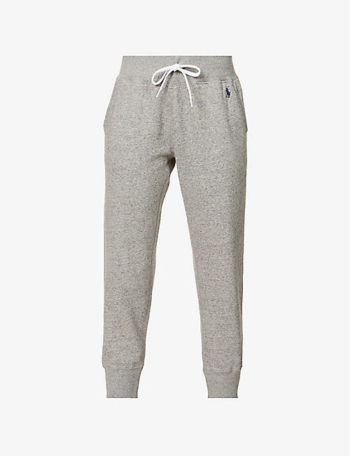 POLO RALPH LAUREN: High-rise regular-fit cotton-blend jogging bottoms