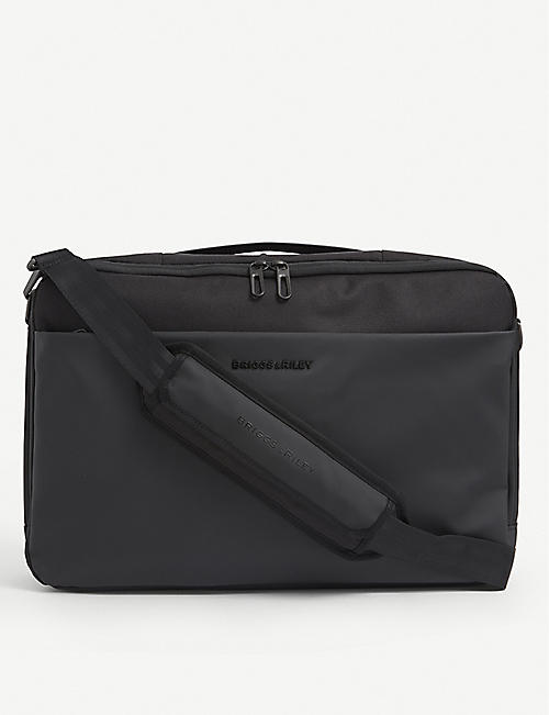 BRIGGS & RILEY: Delve convertible woven backpack briefcase
