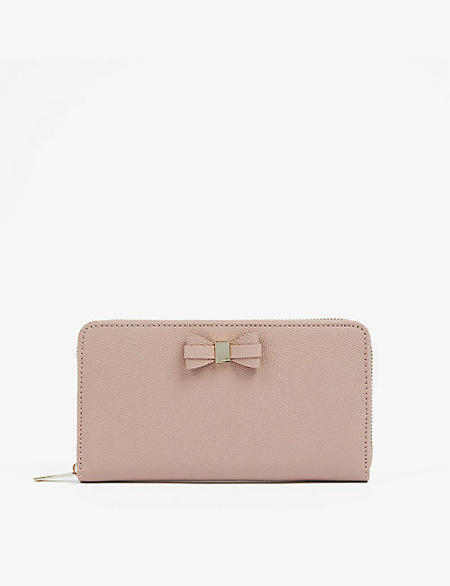 TED BAKER: Aubriee bow-detail leather purse