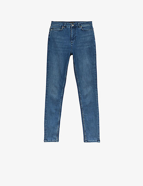 TED BAKER: Geon skinny high-rise stretch-denim jeans