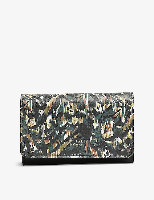 TED BAKER: Sofu Urban-print leather purse