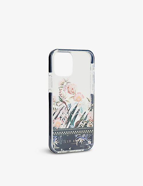 TED BAKER: Decaaa Decadence-print anti-shock iPhone 12 / 12 Pro case