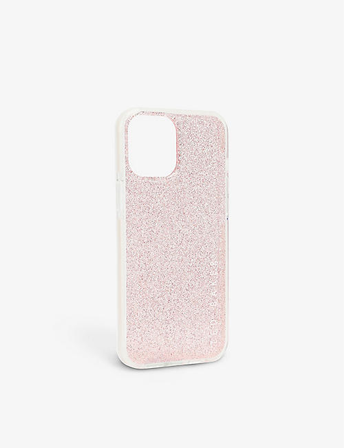 TED BAKER: Rossiy glitter anti-shock iPhone 12 Pro Max case