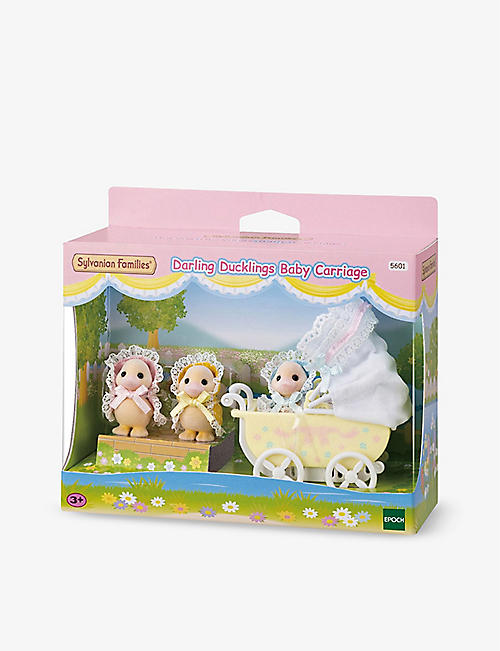 SYLVANIAN FAMILIES: Darling Ducklings Baby Carriage playset