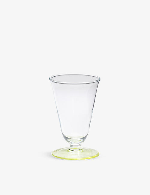 ANNA + NINA: Curved two-tone glass wine glass 12cm