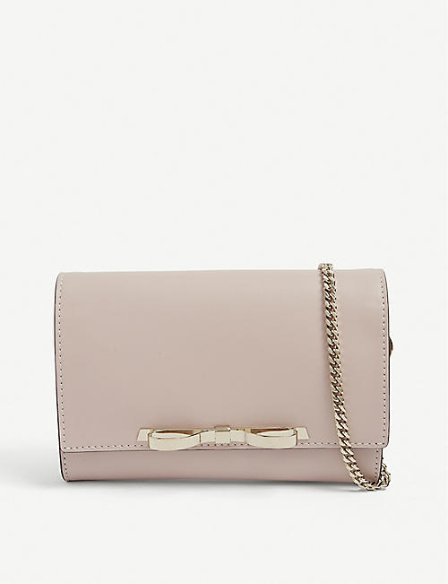 RED VALENTINO: Bow leather clutch bag