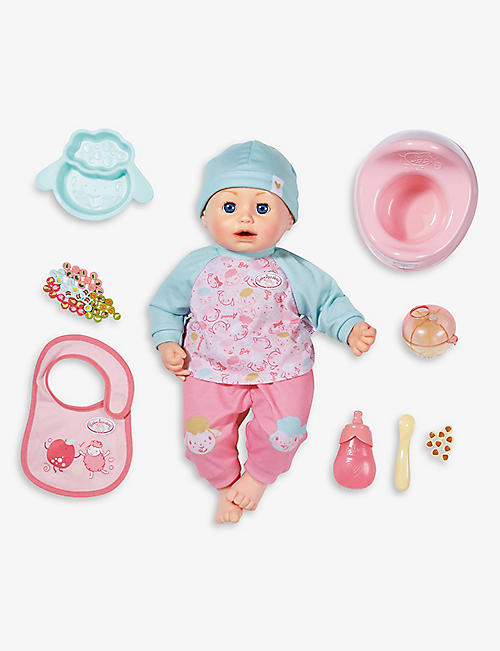 BABY ANNABELL: Lunch Time interactive doll 43cm