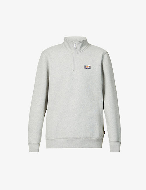 DICKIES: Oakport quarter-zip cotton-blend sweatshirt