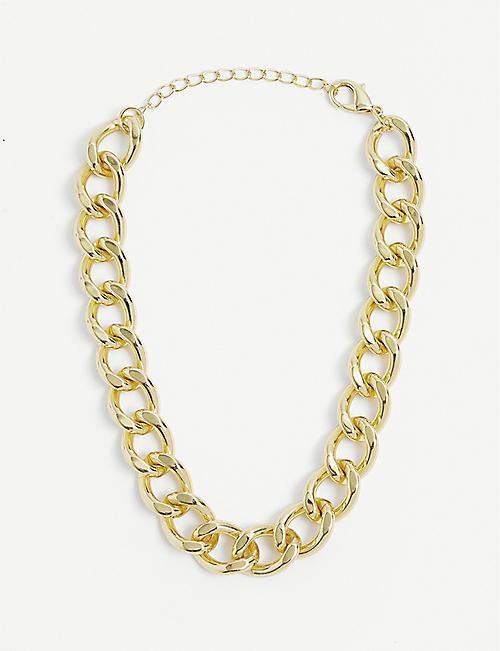 79HOUR: 14ct gold-plated brass choker necklace