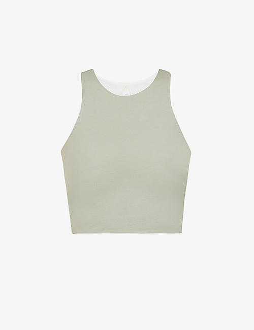 SKIN: Calliope cropped stretch-organic cotton-jersey top