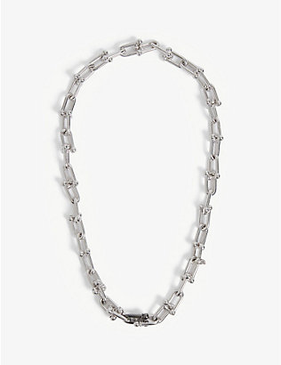 HATTON LABS: Mini U-link sterling-silver chain necklace