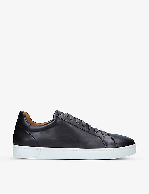 MAGNANNI: Mikel lace-up leather low-top trainers