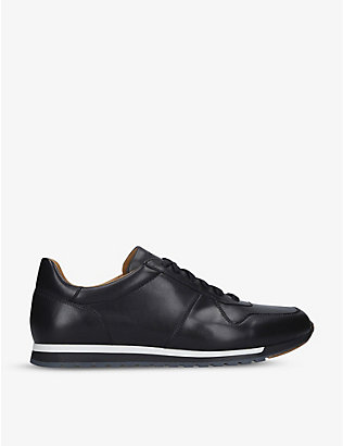MAGNANNI: Ibiza leather low-top trainers