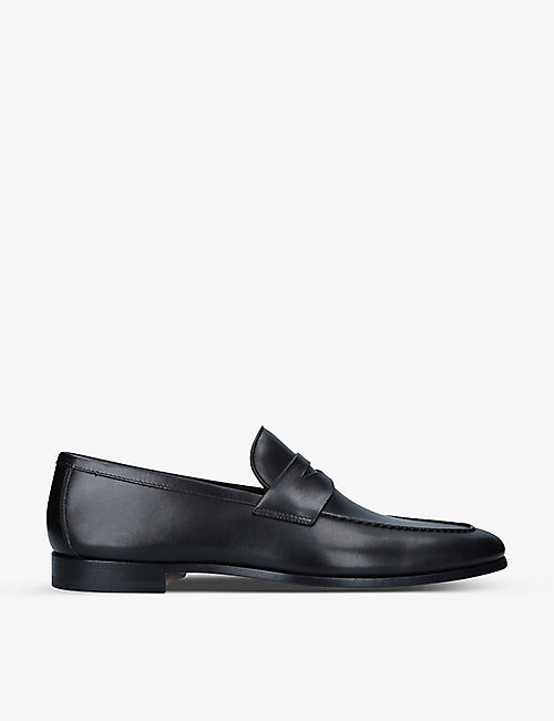 MAGNANNI: Diezma leather penny loafers