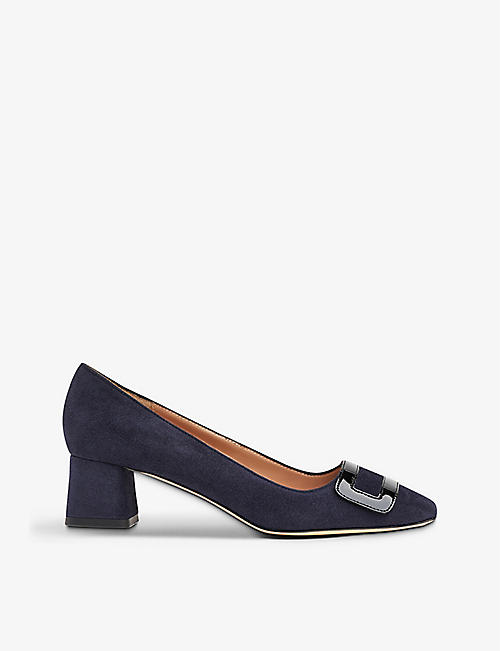 LK BENNETT: Fabiola suede and leather court shoes
