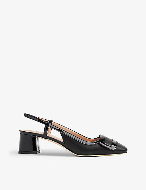 LK BENNETT: Hilary leather slingback courts