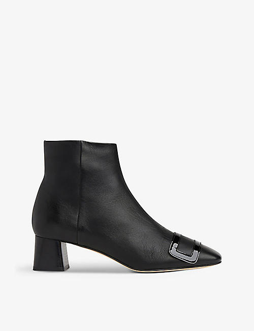 LK BENNETT: Aria leather ankle boots