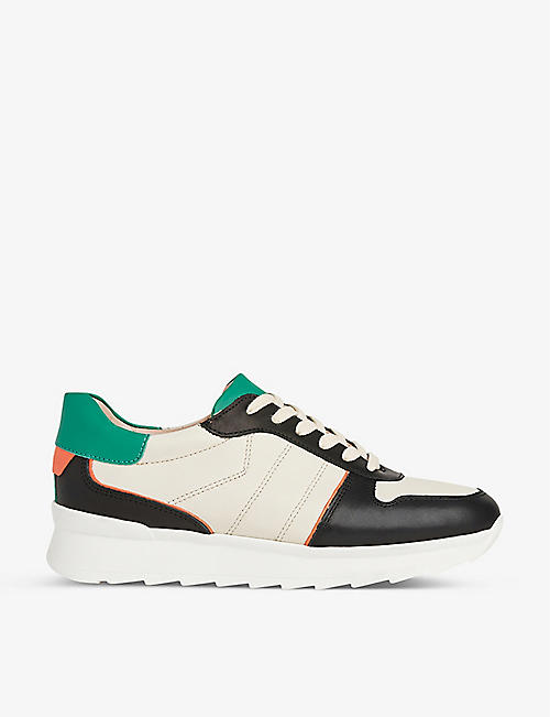 LK BENNETT: Tatiana leather low-top trainers