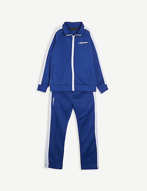 TRAPSTAR: Stripe panel shell tracksuit 4-14 years