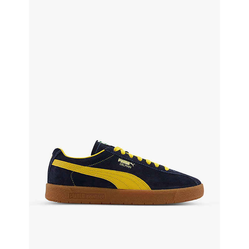 Puma DELPHIN OG CONTRAST-EMBROIDERED SUEDE LOW-TOP TRAINERS